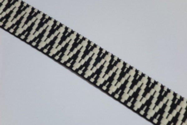 Gurtband BW Aztec schwarz/ecru 40mm