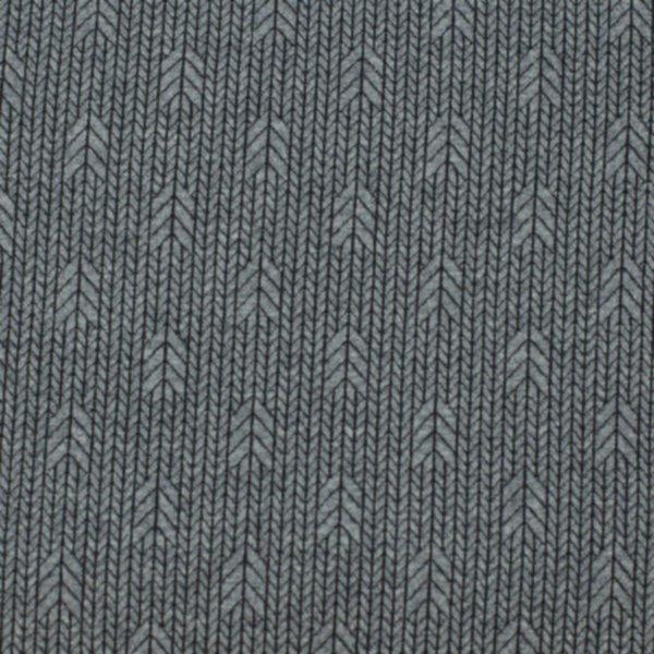 Minijacquard Jersey Plain Stitches, Up Knit, anthrazit mel.-schwarz, Hamburger Liebe (Albstoffe)