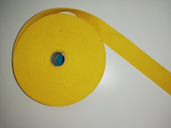 Taschengurtband 100% Baumwolle 4cm breit gelb