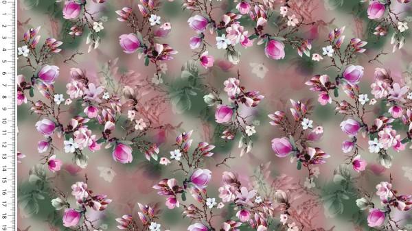 Viskose Jersey Digital Faded Flower - col.1518 altrosa