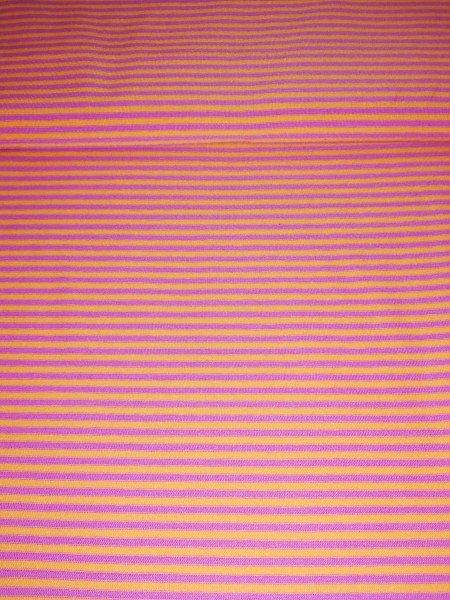 Swafing, Jersey Baumwolle, Streifen, orange,lila