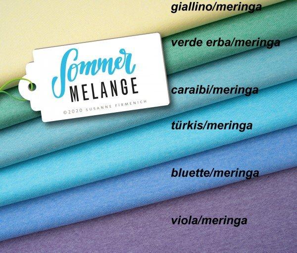 Bio Jersey Sommer Melange, türkis/meringa, Hamburger Liebe (Albstoffe)