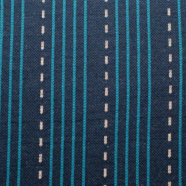 Jacquard SPARKLE, LINES, blau petrol, Hamburger Liebe (Albstoffe)