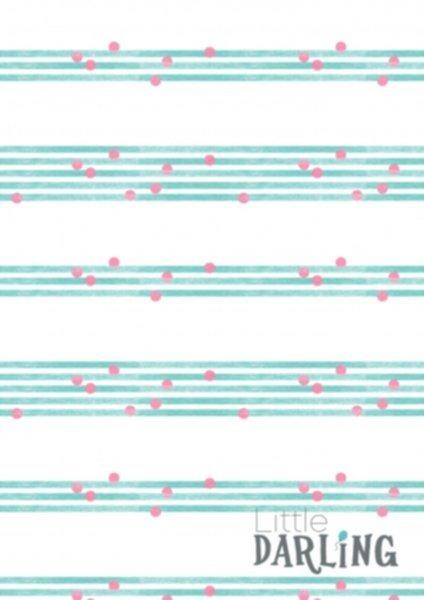 Jersey Baumwolle, Little Darling, Streifen mit Punkten
