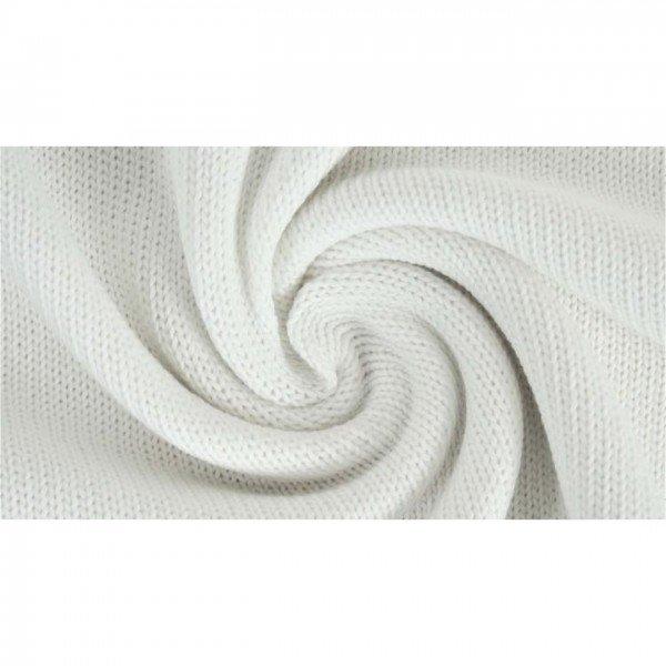 """Strickstoff """"Knitted Cotton Uni"""" - col. 0050 weiß"""