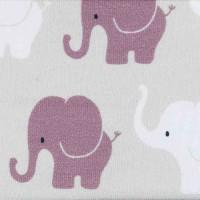 Jersey Design Elefanten Parade - col. 849 hellgrau