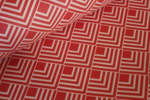 BW beschichtet Squares red