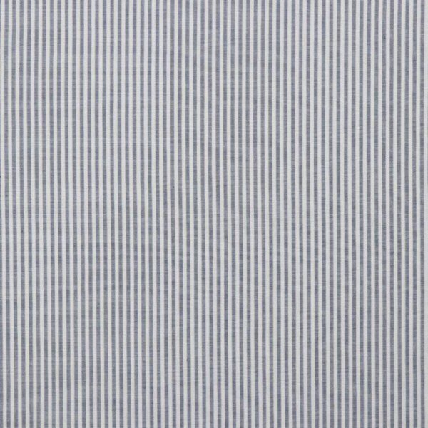 Baumwolle Design Poplin Yarn Dyed Strip - col. 047 blau