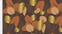 Viskose Jersey Digital Golden Leaves - col.0058 braun