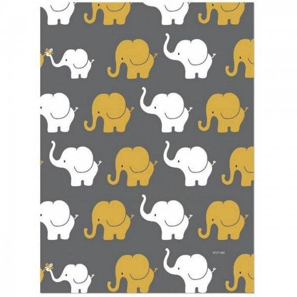 Jersey Design Elefanten Parade - col. 260 senf