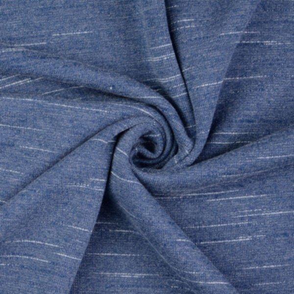 Slub French Terry (leichter Sweat), geraut, blau
