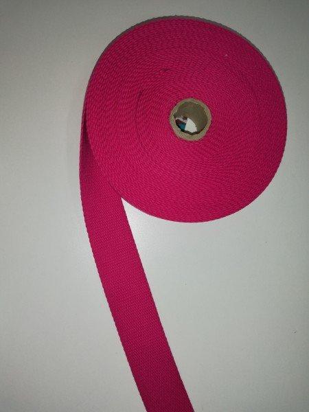 Taschengurtband 100%Baumwolle 4 cm pink
