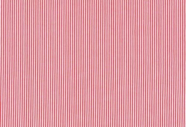 BW-Stoff Bergen Streifen rot, weiss