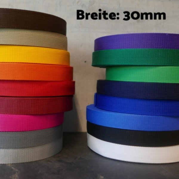Gurtband Polypropylen 30mm - in 17 Farben