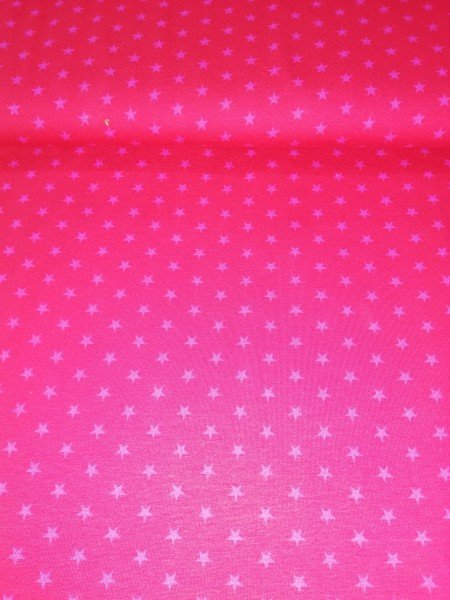 Swafing, Jersey Baumwolle, Sterne, rot, pink