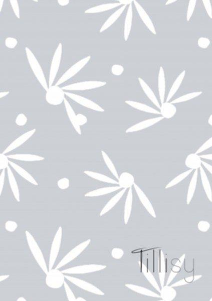 Canvas Druck, hellblau-weiss, Tillisy, Fächerblume - Stück à 0,5m