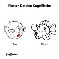 Plotter-Datei 2 Kugelfische (Fugu und Glubschi)