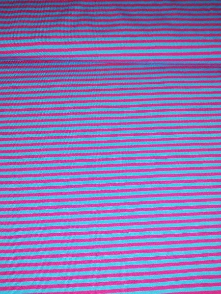 Swafing, Jersey Baumwolle, Streifen, pink, türkis