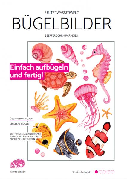 """Bügelbilder """"Sea Love"""" - Pink Seepferdchen Paradies"""