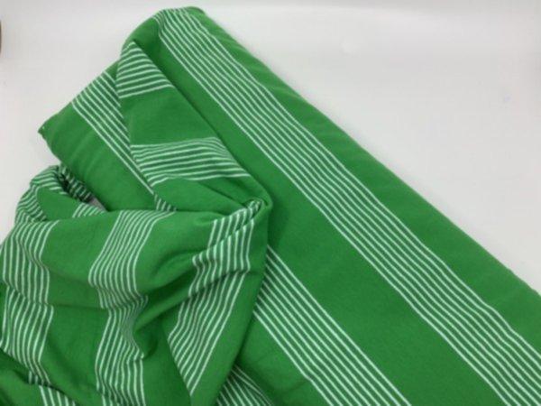 Bio Jersey Basic Streifen Grün