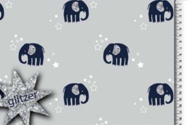 Jersey Glitzerdruck Elefanten