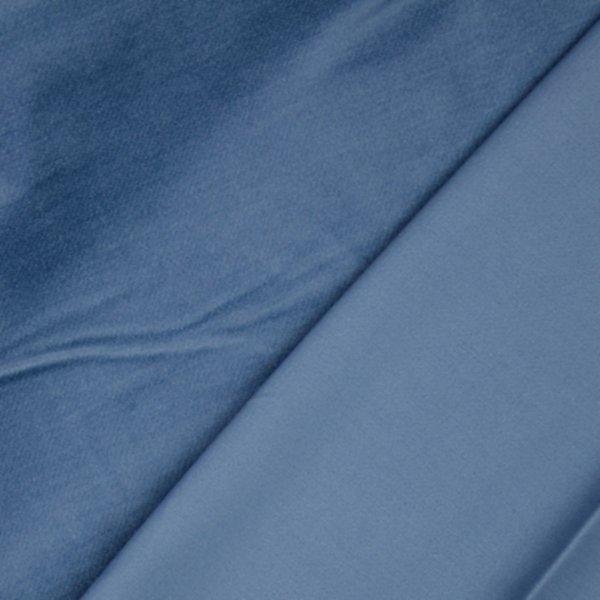 Velvet Baumwolle, blau uni, Tillisy