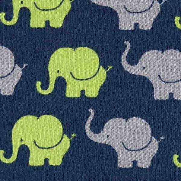 Jersey Design Elefanten Parade - col. 892 admiralblau