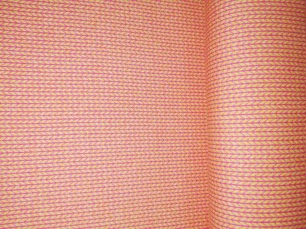 Albstoffe Knit Knit Jacquard-Jersey gelb/pink