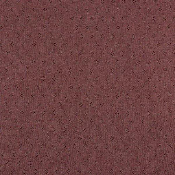 Jersey Baumwolle Pointoille Uni - col. 015 mauve