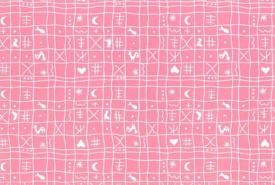 BW-Stoff Klassiker rosa Hähnchen rosa-weiss