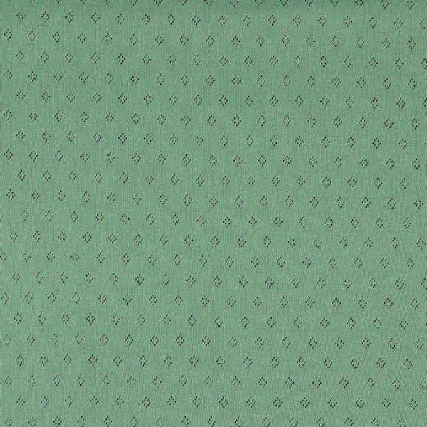 Jersey Baumwolle Pointoille Uni - col. 022 mint