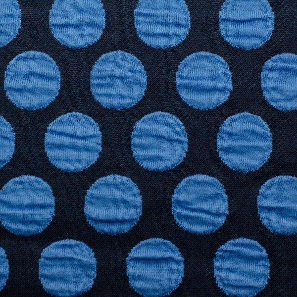 Jacquard Jersey Plain Stitches, Bubble Dots, blau, Hamburger Liebe (Albstoffe)