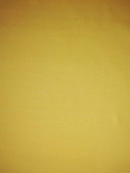 Bündchen Tricot im Schlauch uni gefärbt gelb