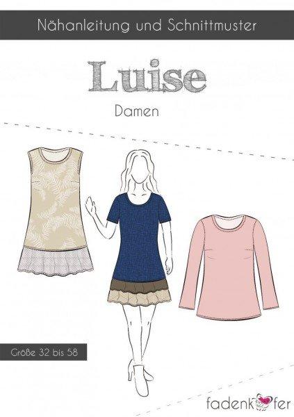 Fadenkäfer Schnittmuster Luise Shirt und Kleid Damen
