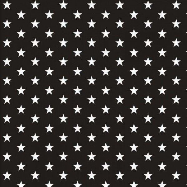 Baumwolle Design Petit Stars - col. 001 schwarz