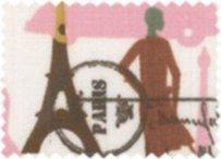 BW-Stoff Paris Tour Eifel rosa, weiss, braun
