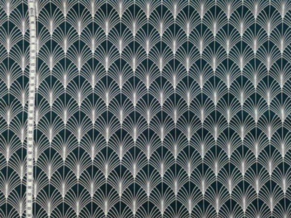 Baumwolle gewebt - Tillisy Palme blau