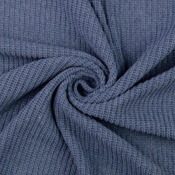 Grobstrick uni, blau