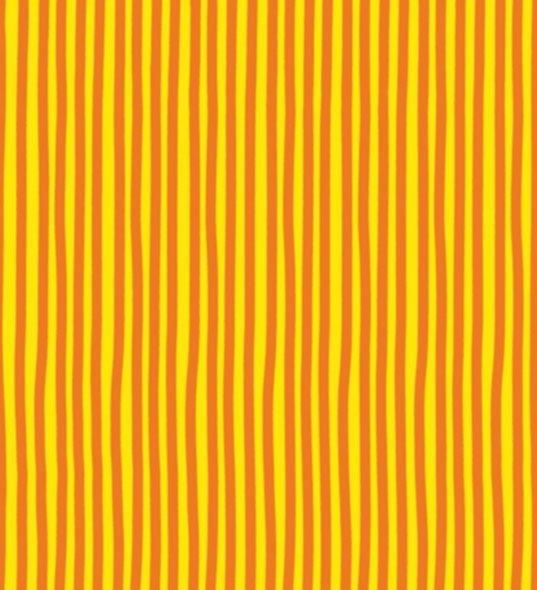 BW-Stoff Junge Linie Streifen gelb, orange