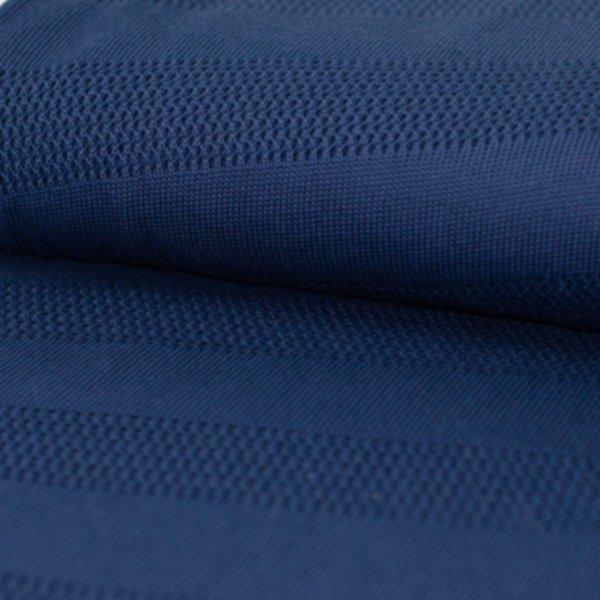 Grobstrick Bliss Knit (Stripe Knitty), navyblue, Hamburger Liebe (Albstoffe)