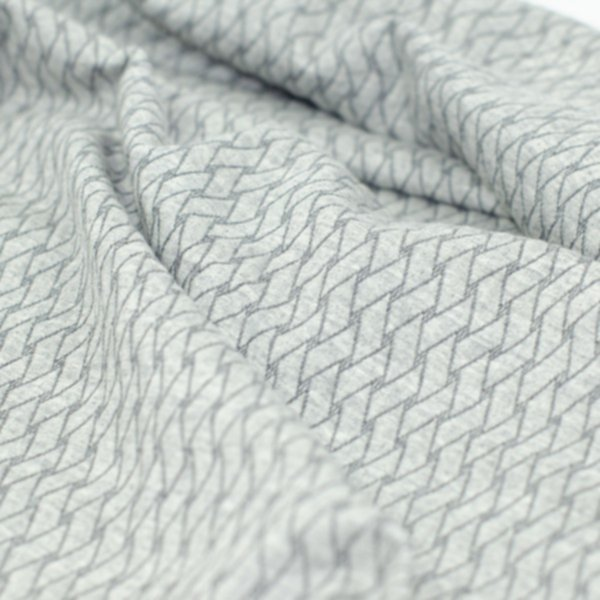 Minijacquard Jersey Plain Stitches, Basket Knit,grau mel.-carbon, Hamburger Liebe (Albstoffe)