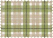 BW-Stoff Linz Karo grün, beige, weiss
