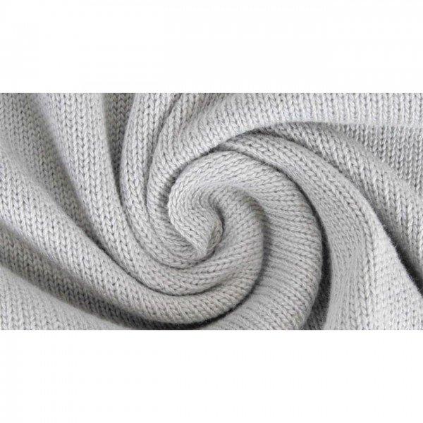 "Strickstoff ""Knitted Cotton Uni"" - col. 0062 grau"