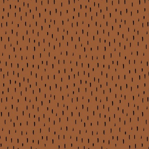 GOTS Bio Jersey Dots and Playfull Stripes - col. 105 cognac