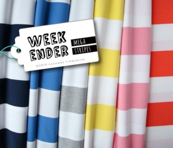 Jersey Blocking Stripe (Mega Stripes), Streifen giallino/weiss, Hamburger Liebe