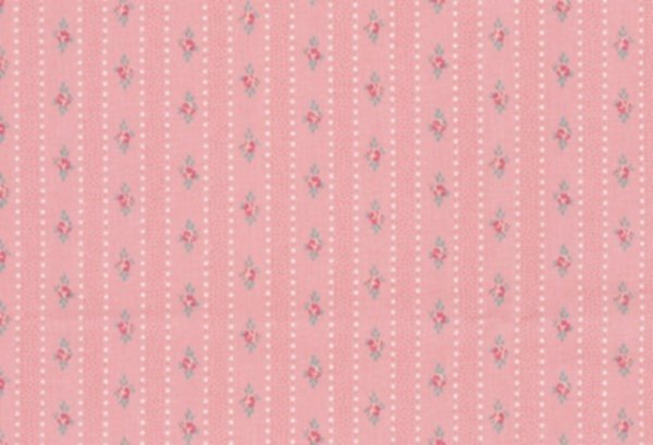 BW-Stoff Prinzessin Rosen Streifen altrosa