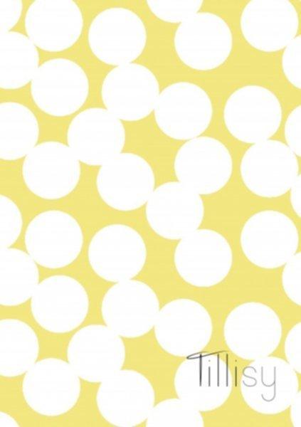 Canvas Druck, weiss-gelb, Tillisy, Punkte