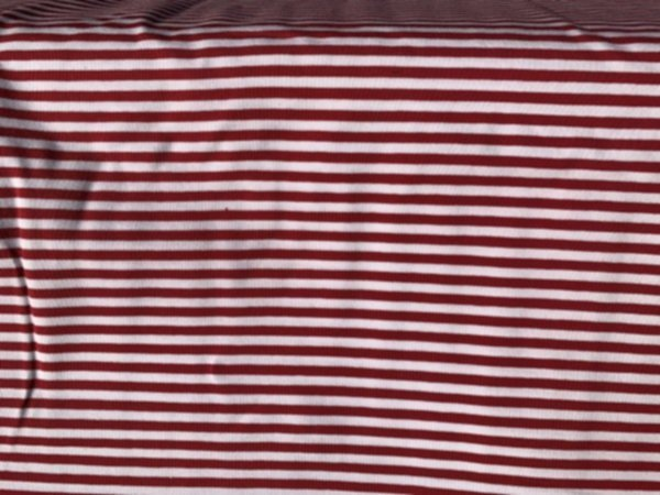 Bio Jersey rot weiss Streifen