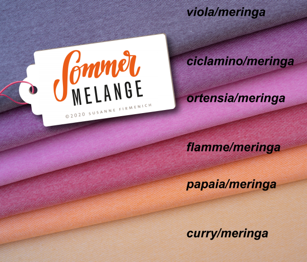 Bio Jersey Sommer Melange, ortensia/meringa, Hamburger Liebe (Albstoffe)