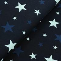 Jersey Kleine Sterne dunkelblau